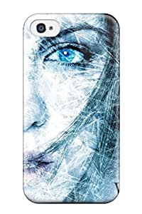 Flexible Tpu Back Case Cover For Iphone 4/4s - White Out
