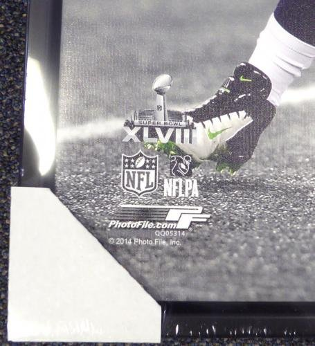 Russell Wilson Autographed Signed Framed 24x30 Canvas Photo Sb Champs Rw 107484 Autographed NFL Art