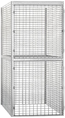 Salsbury Industries Bulk Storage Locker Double Tier Starter, 48-Inch, 60-Inch