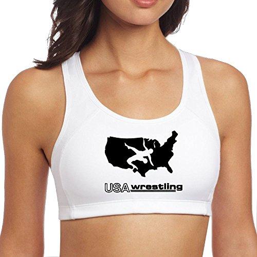 JMFASHION USA Wrestling Women Racerback Sport Bra for Yoga Running Gym Workout Fitness by JMFASHION
