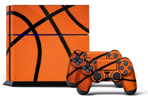 PS4 Console Designer Skin for Sony PlayStation 4 System plus Two(2) Decals for: PS4 Dualshock Controller Hoops