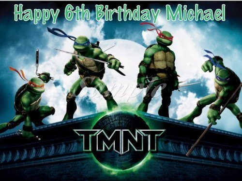 ninja turtle birthday topper - 7