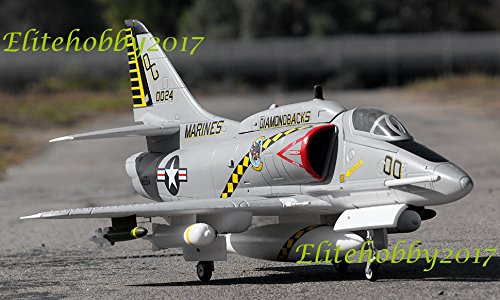 6 CH Sky Flight Hobby Metal 70mm EDF A-4 Skyhawk RC EDF Jet PNP