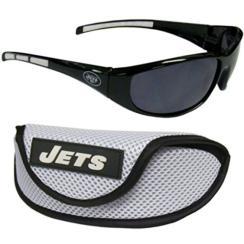 NFL New York Jets Wrap Sunglasses & Sport Case, - Sunglass Ny