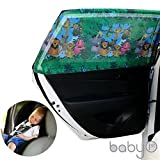 picture sun shade - Universal Car Sun Shades Cover for Rear Side Window Provides Maximum UV Protection for Baby, Children, Kids and Dog. Best Quality Mesh Material- 1 Set (2 PCS/PACK) (COLORED JUNGLE PRINT INSIDE)