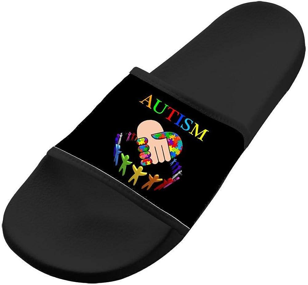 Shoes Unisex Non-Slip Autism Awareness Casual Slide Sandals Indoor /& Outdoor Slippers