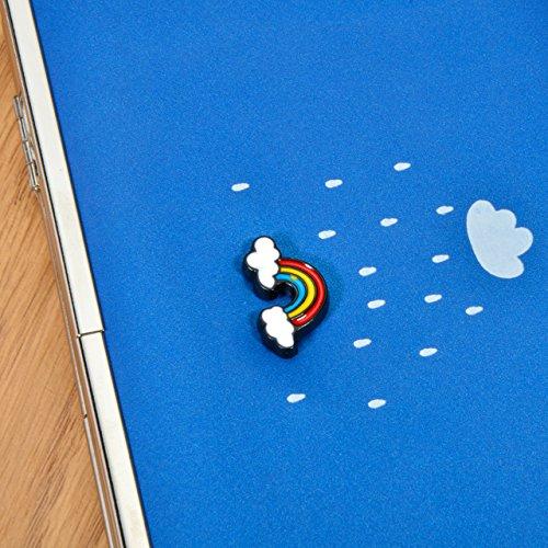 Caja de la cartera del teléfono, Vandot Estilo Largo Multiusos del Embrague del Cuero Bolso del Diamante de los Talones de la Caja del Teléfono Móvil del Monedero para el iPhone 8 / iPhone 8 Plus / iP Rainbow 06