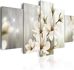 5 Piece Floral Canvas Print Elegant Flower Wall Art Painting For Living Room Decor Modern Home Decorations
