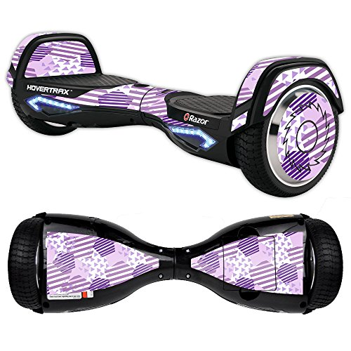 MightySkins Skin Compatible with Razor Hovertrax 2.0 Hover Board Self-Balancing Smart Scooter wrap Cover Sticker Skins Purple Pentagon