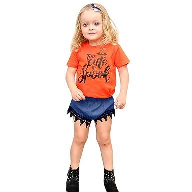 new concept d019f 2f5c7 Completo Bambina Halloween Zucca Vestito Pagliaccetti da ...