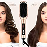 Ionic Hair Straightener Brush by INSMART, 30s Fast