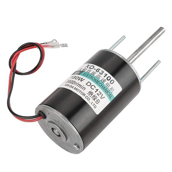 12 / 24V 150W de alta velocidad CW/CCW Imán permanente DC Motor para generador de bricolaje(3000RPM(12V)): Amazon.es: Industria, empresas y ciencia