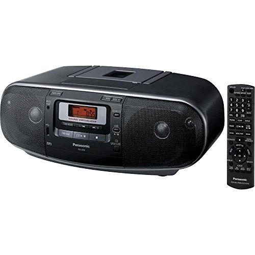 Panasonic RX-D55GC-K Boombox – High Power MP3 CD AM/ FM Radio Cassette Recorder with USB & Music Port High Quality