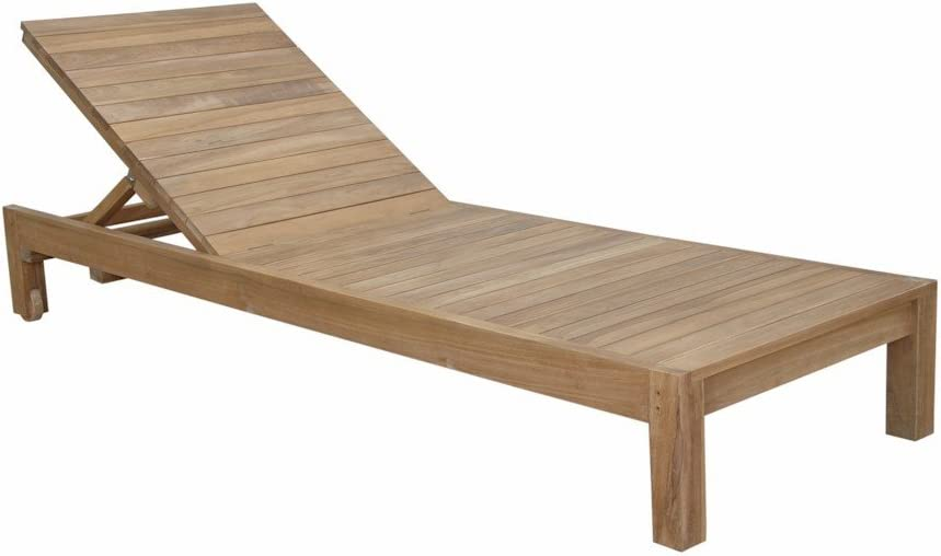 Amazon Com Anderson Teak Southbay Sun Lounger Without Cushion Garden Outdoor