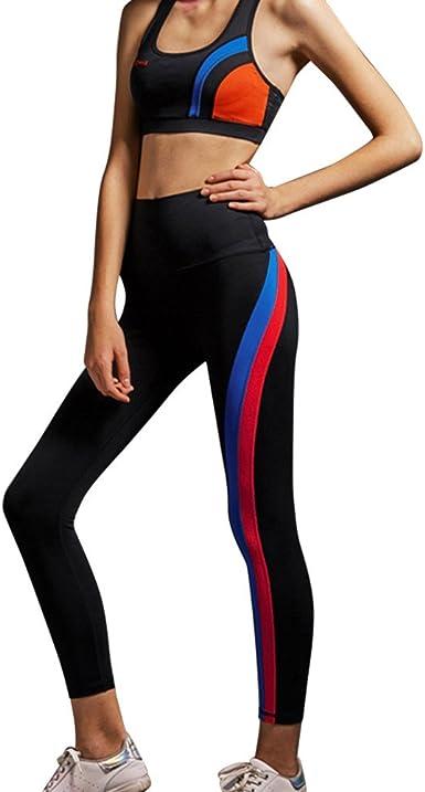 Pantalones Yoga Mujeres Mallas Deportivas Mujer Empalme ...