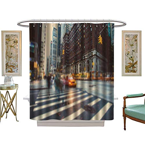 luvoluxhome Shower Curtains 3D Digital Printing New York City in Motion Patterned Shower Curtain W36 x ()