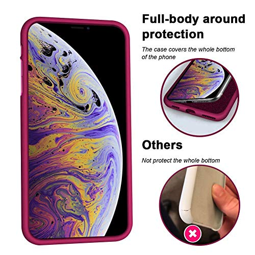 KUMEEK iPhone X/Xs Case, Soft Silicone Gel Rubber Bumper Case Anti-Scratch Microfiber Lining Hard Shell Shockproof Full…
