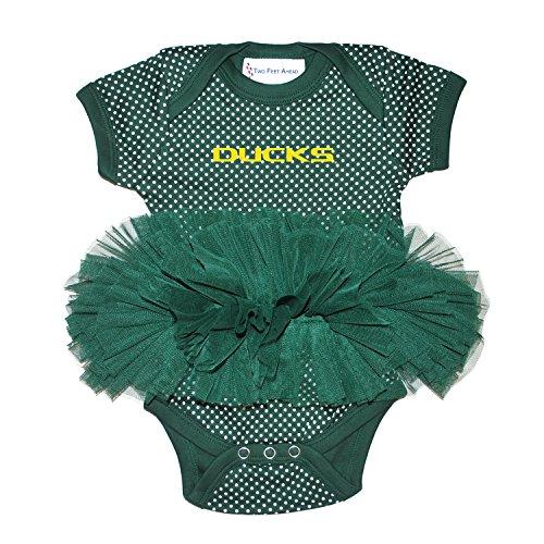 Oregon Ducks Polka Dot Newborn Infant Tutu Creeper Bodysuit (6 Months)