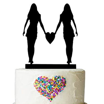 same sex mrs and mrs love cake topper silhouette couple bride and bride wedding party