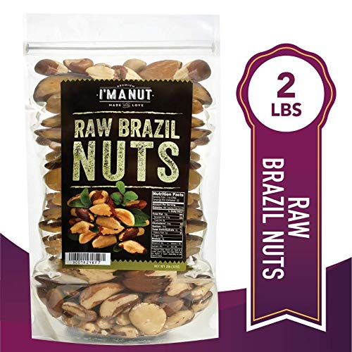 Raw Brazil Nuts 32oz (2 Pounds) Superior to Organic, No PPO, Probiotic, Large,Fresh and Reasealable bag ()