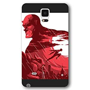 UniqueBox Customized Marvel Series Case for Samsung Galaxy Note 4, Marvel Comic Hero Daredevil Samsung Galaxy Note 4 Case, Only Fit for Samsung Galaxy Note 4 (Black Frosted Case)
