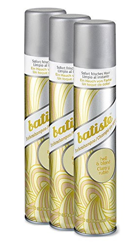 Batiste Dry Shampoo (3er Pack 2+1) - Trockenshampoo - Color blond (3x200ml)