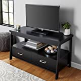 Mainstay* 1 Shelf Storage And 2 Drawer TV Stand for TVs up to 47 with 2 Drawers in Black