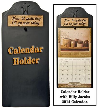 Amazon Com Calendar Holder Primitive Country Rustic Black Home