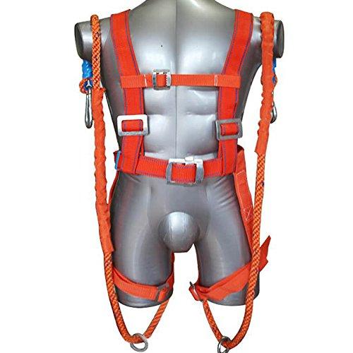 enshey 5punto cuerpo completo equipo de protección arnés, Busto de cinturón de seguridad para escalada en roca alta trabajo Rappelling rápel