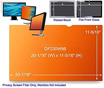 """3M Gold Privacy Filter for 23/"""" Widescreen Monitor GF230W9B NEW"""