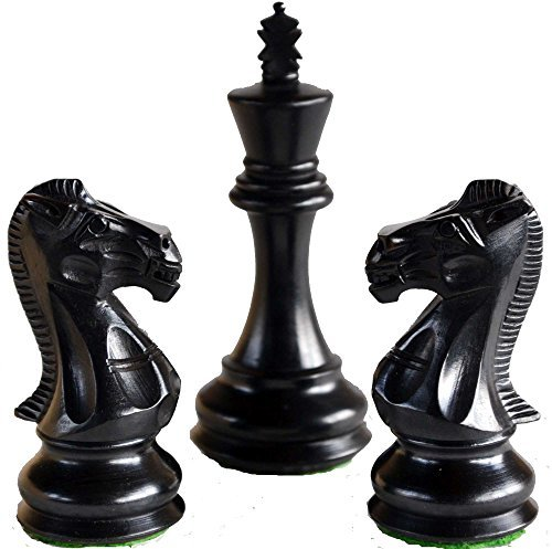 - Limited Edition Wooden Ebonised Weighted Chess Set 34 Chess Pieces 2 Queens Extra