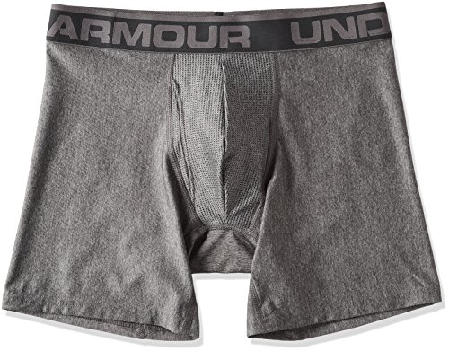 Under Armour Men's Original Series 6'' Boxerjock, Carbon Heather/Charcoal, 4X-Large by Under Armour
