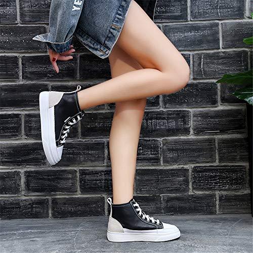 Donna Confortevole Sportive Cuoio Black Respirabile Syw Scarpe Scarpe Calzature Da Le Casuali Di E TxRAUq