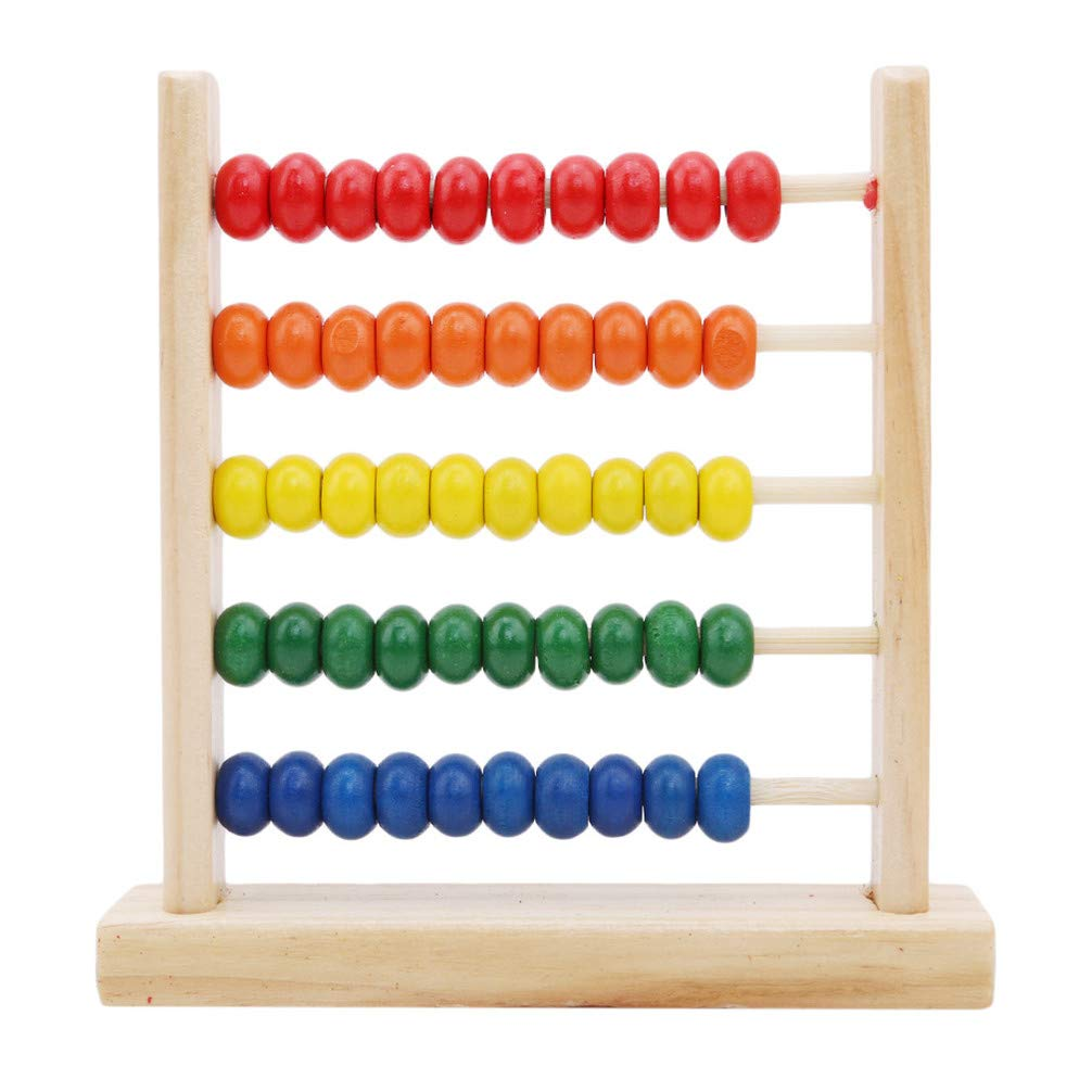Toporchid Montessori Educational Baby Toys Mini Wooden Abacus Children Early Math Learning Toys Numbers Counting Calculate Beads
