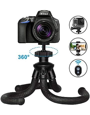 5146eec0d1b44e ... Canon Nikon Sony DSLR Caméra. ZATK Trépied Flexible, Trepied Portable  avec Télécommande Bluetooth pour Smartphone, iPhone, GoPro,