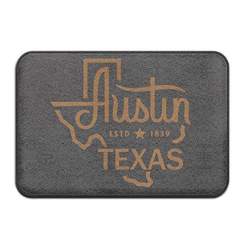 1839 Map (USA Austin Texas Map Est 1839 Doormat For Entranceways 23