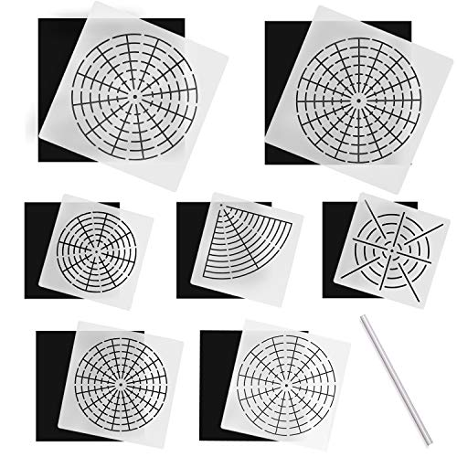 Mandala Dotting Stencils for Rocks Painting, 22 Pcs Mandala Rocks Painting Stencils Kit, Include Templates Stencils, Black Cardboard and White Pencil for DIY Madala Painting Art Projects by INFELING