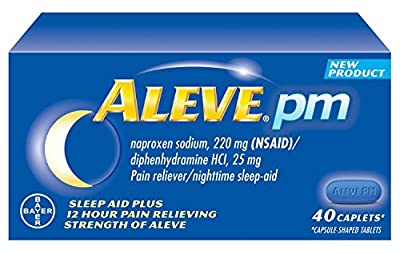 (Pack of 2) Aleve PM - Sleep Aid + 12 Hour Pain Relief, 40 Caplets each