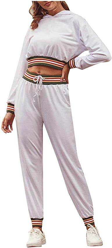 MEIbax Moda Ocio Versión Mejorada Hoodie + Pantalones Mujer Mujer ...