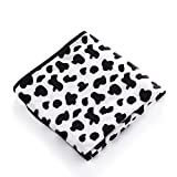E-Smarfs Pet Cow Print Dog Blanket Warm and Soft Flannel Fleece Dog Throw, Cow, Medium