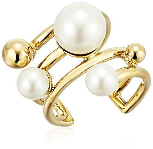 kate spade new york Bits and Baubles Faux Pearl Statement Ring, Size 7