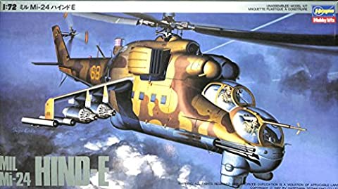 Hasegawa 1:72 MIL Mi-24 Hind-E Plastic Helicopter Model Kit #K21 - Mi 24 Hind Helicopter