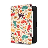 Ayotu Colorful Shell for Kindle Paperwhite E-reader Auto Wake and Sleep Smart Protective Cover,For (2012/2013/2014/2015/New Amazon Kindle Paperwhite 300 PPI), Painting Series K5-04 The Cat
