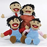 Creative Minds Asian 4 pc. Full-bodied Family Puppet Set