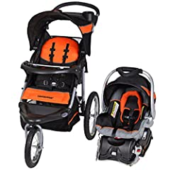 The Baby Trend Expedition Travel System comes complete with the Expedition Baby Trend 3 Wheel Jogging Stroller and the Baby Trend EZ-Flex Lock 4-30 pound infant car seat with lock in car base. The stroller features a lockable front swivel whe...