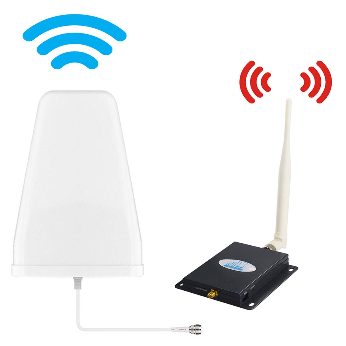 ATT Cell Phone Signal Booster 4G LTE Mobile Booster HJCINTL FDD 700Mhz Band 12/17 Mobile Signal Repeater Amplifier Kits by HJCINTL