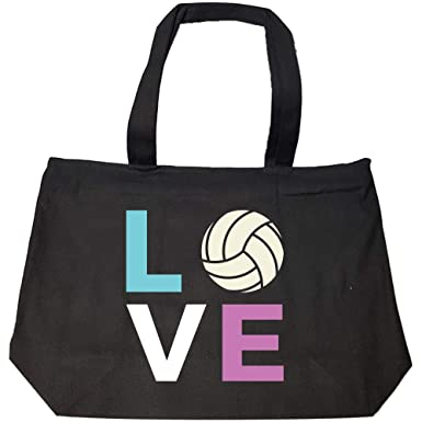 3a37c1974f Amazon.com  Volleyball Player Cute for Girls Women - Fashion Zip Tote Bag   Clothing