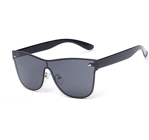 fc649f7f3a0 Amazon.com  GAMT Sunglasses Integral Mirrored Lens Metal Frame Black ...
