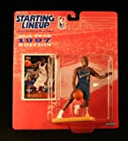 : CHRIS WEBBER / WASHINGTON WIZARDS * 1997 * NBA Kenner Starting Lineup & Exclusive TOPPS Collector Trading Card