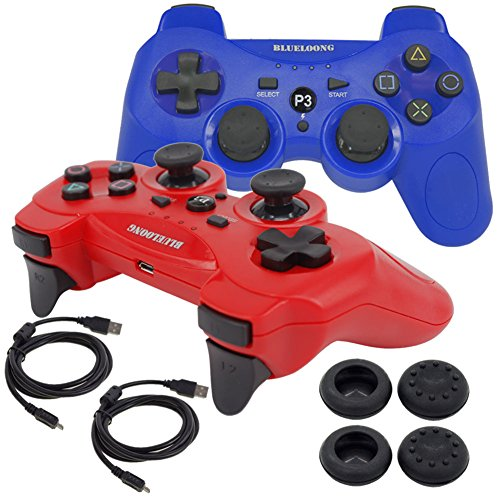 BlueLoong Wireless Double Vibration Controller For PS3 Re...